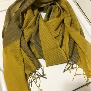 Olive & gray Eileen Fisher scarf